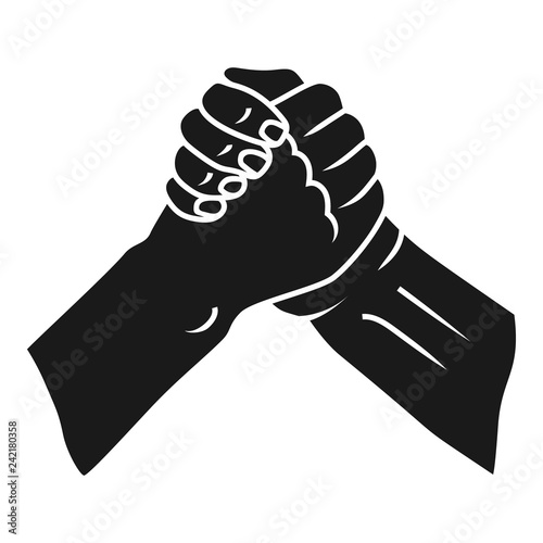 Fototapeta  Brotherly handshake icon