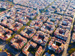 Aerial view of Barcelona Eixample district