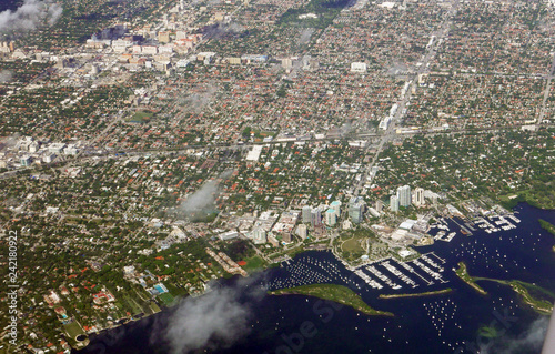 Deurstickers Amerikaanse Plekken Aerial view of parts of Miami, Florida, USA