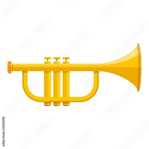 Music trumpet icon Wallpaper Mural