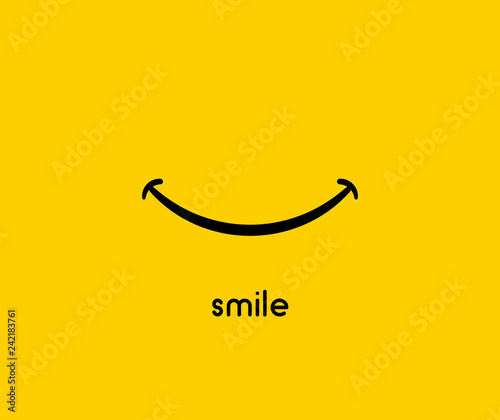 Fototapeta Smile icon vector graphic design symbol or logo obraz