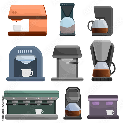 Canvas-taulu Coffee maker icon set