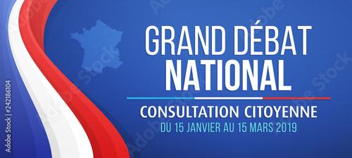 Fotomural  Grand débat national - Consultation citoyenne