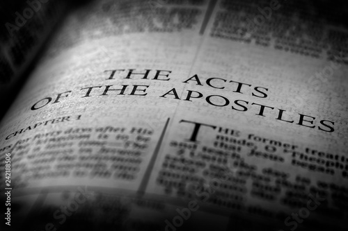 Bible New Testament Christian Gospel Acts of Apostles Fototapeta