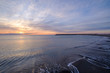 Lever de soleil sur la mer Méditerranée.