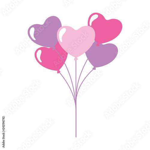 Fototapeta valentine day card obraz na płótnie