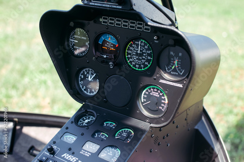 Helicopter Robinson r66 cabin inside view Wallpaper Mural