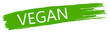 vegan Logo grün isoliert