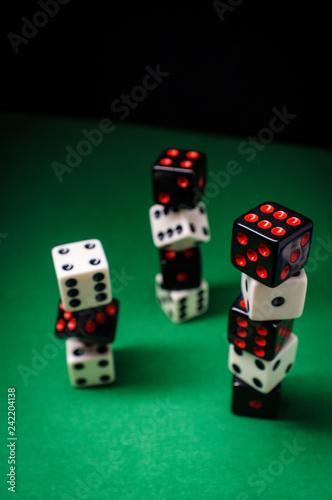 фотография  Dice Stack Gambling Concept