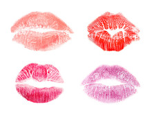 Set With Color Lipstick Kiss M...