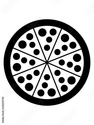 Fotografía  lecker salami pizza hunger fast food essen diät ungesund abnehmen fressen snack