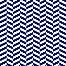 Blue Herringbone Chevron Seamless Pattern - Bold Navy Blue  And White Herringbone Chevron Zigzag Seamless Pattern