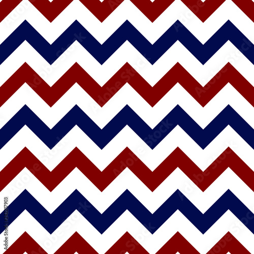 Photo Red, White, and Blue Chevron Seamless Pattern - Bold and graphic red, white, and
