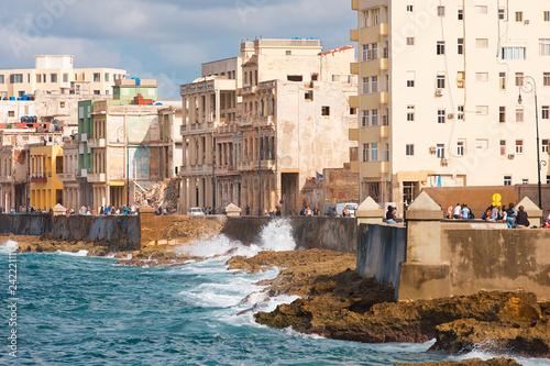 Photo  Malecon Havana Cuba architecture