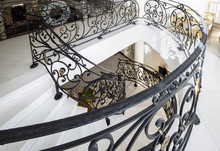 Handmade Wrought Iron Railing .luxury Lobby Interior