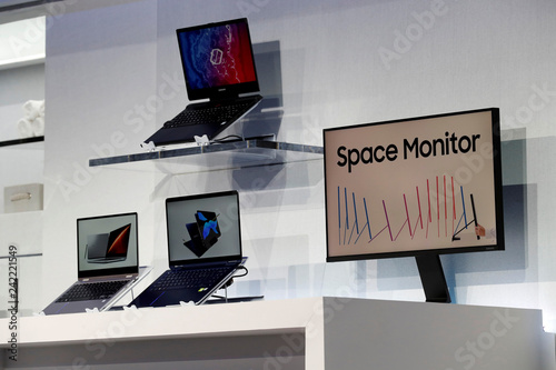 New laptop computers and a space-saving Space Monitor are