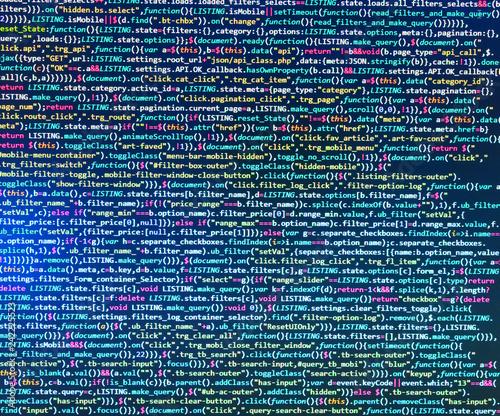 Programming code abstract laptop  Modern application Programming