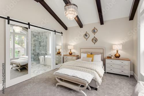 Bedroom and Master Bathroom in New Luxury Home Fotobehang