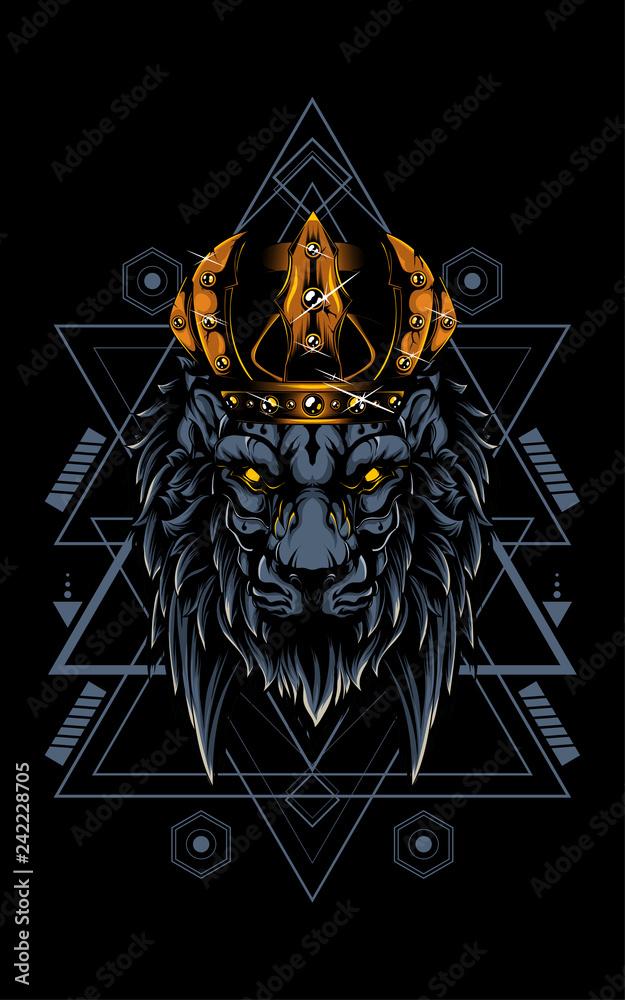 King Of Lion sacred Geometry
