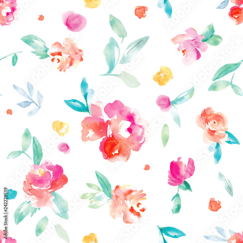 Colorful Iphone Wallpaper Girly: Cute, Bright, Colorful Watercolor Flower Background