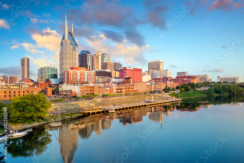 In de dag Verenigde Staten Nashville, Tennessee downtown skyline