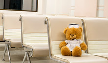 A Stuffed Toy Bear In The Reception Area