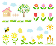Spring Landscape Illustration ...