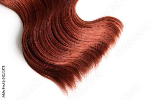 Red wavy hair extension isolated Canvas Print