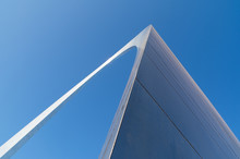 Abstract View Of The Gateway Arch With Brilliant Blue Skies In Background.  St. Louis, Missouri, USA