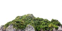 Mountain Cliff Rock On White Background Phi Phi Island Thailand