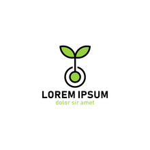 Green Ecology Plant Nature Sprout Logo Template