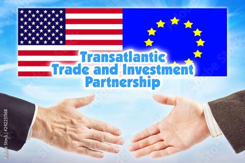 Fotografie, Obraz  TTIP, Transatlantic Trade and Investment Partnership