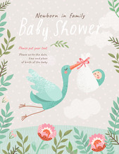 Baby Shower Invitation Templat...
