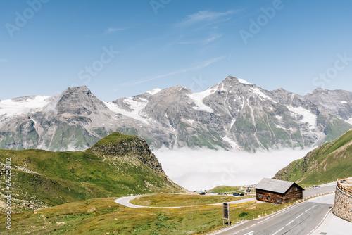 Fotografie, Obraz  Scenic view of Alpine road through valley