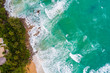 Sea wave beach aerial view beautiful amzing of nature