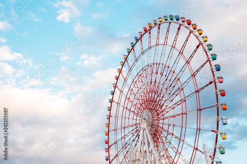 Recess Fitting Amusement Park Odaiba Ferris wheel in Tokyo, Japan