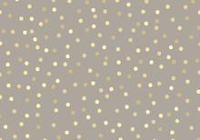 Abstract Golden Glitter Dots O...