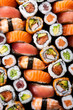 Leinwanddruck Bild - Japanese sushi collection