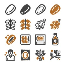 Date Palm Icon Set,vector And ...