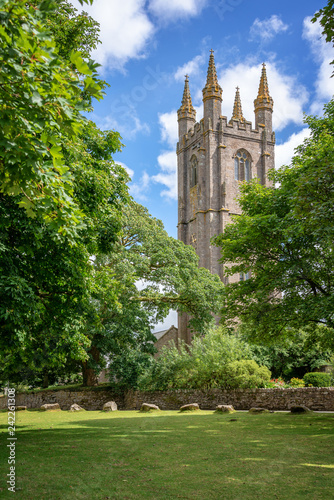 In de dag Europese Plekken St Pancras church in Widecombe in the Moor, Dartmoor, Devon, UK