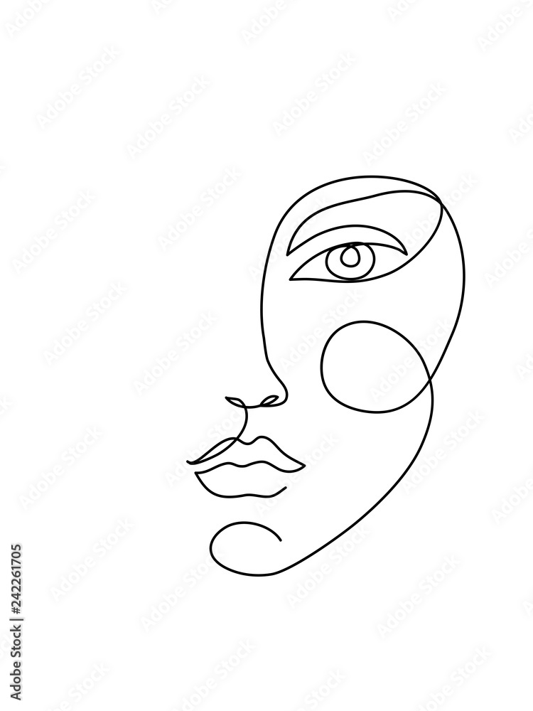 Fototapeta Abstract face icon