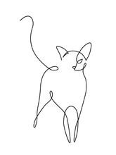 Minimalist Cats Line Art