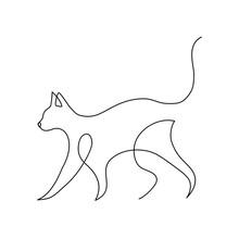 Minimalist Cats Line Art