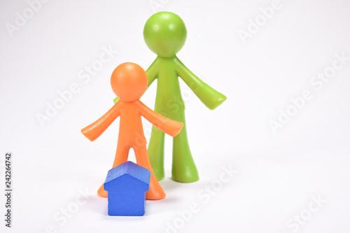 Fotografiet  famille personne parents enfant logement