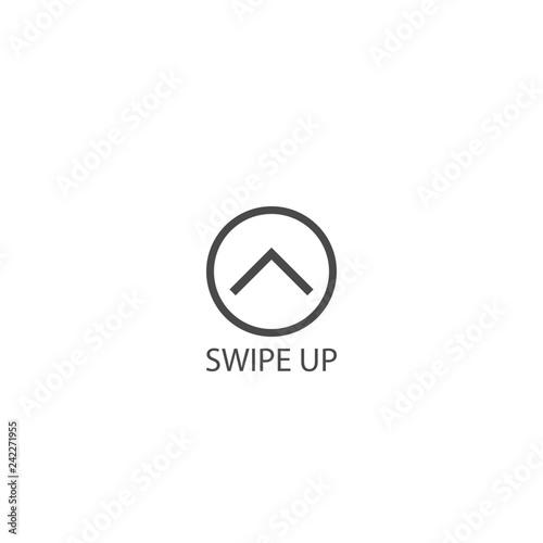Obraz Swipe up icon - fototapety do salonu