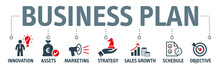 Banner Business Plan Cvector Illustration Oncept