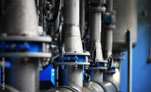 Large industrial water treatment and boiler room Fototapete