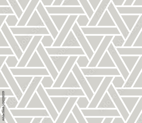 Abstract Simple Geometric Vector Seamless Pattern With White