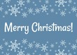 Merry Christmas winter snowflakes postcard. Vector holiday greeting card