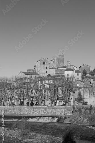 Fototapeta Laroque village, France. obraz na płótnie